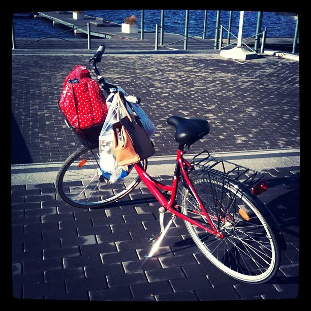 Shopping in Sweden by bike