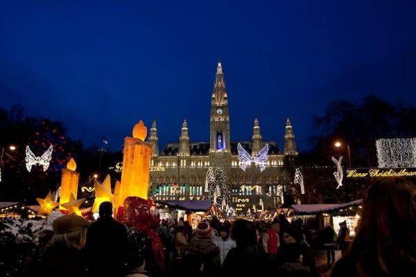 Vienna Rathaus Townhall Christmas markets