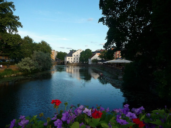 Uppsala in summer river
