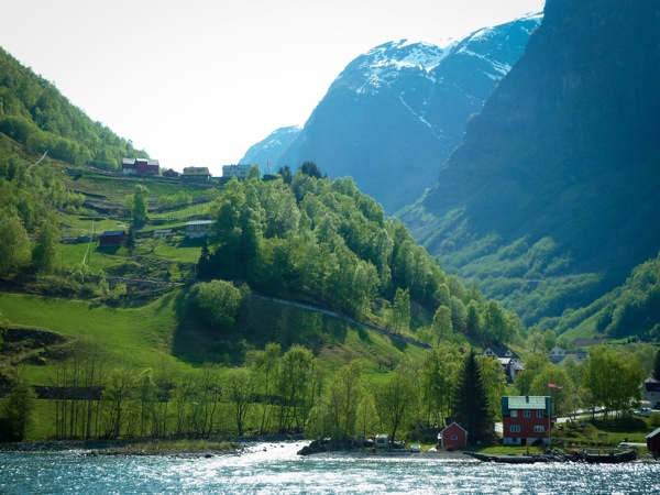 Little Norwegian village in the fjords